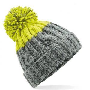 Lime Green and Grey Beanie