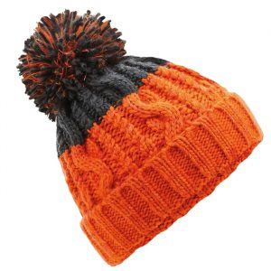 Dark Grey and Orange beanie