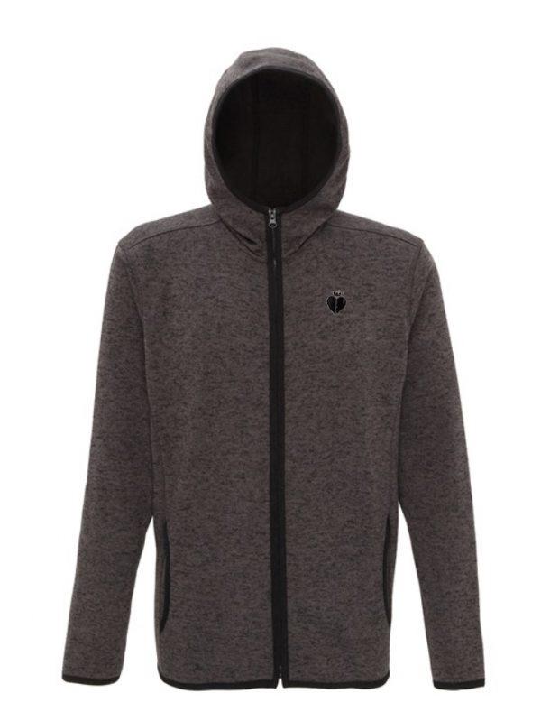 Hooded Jacket CHARCOAL BLACK FLECK