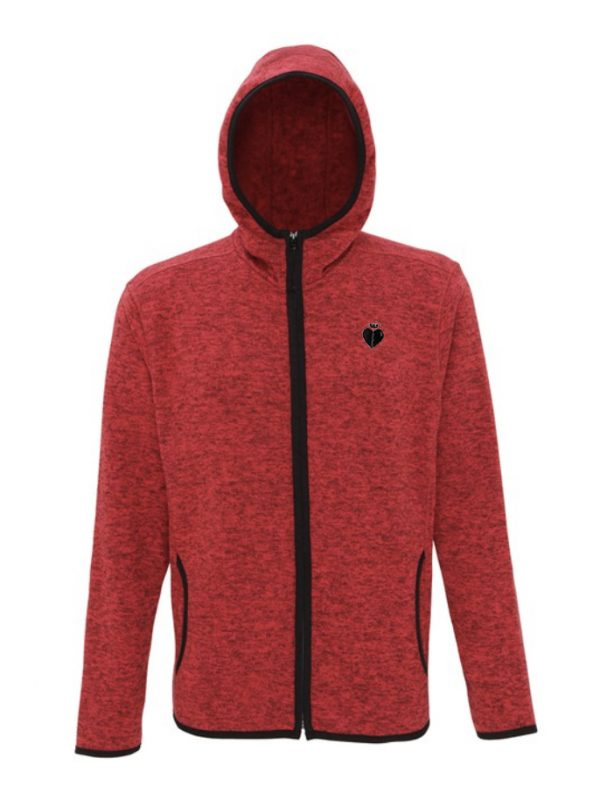 Hooded Jacket FIRE RED BLACK FLECK
