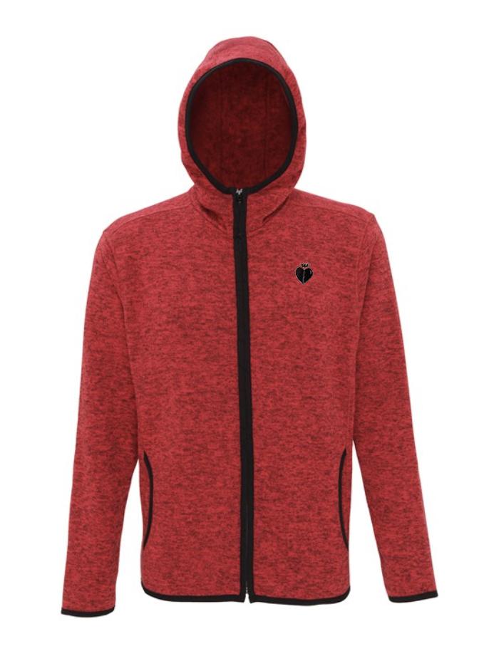 Hooded Jacket FIRE RED BLACK FLECK
