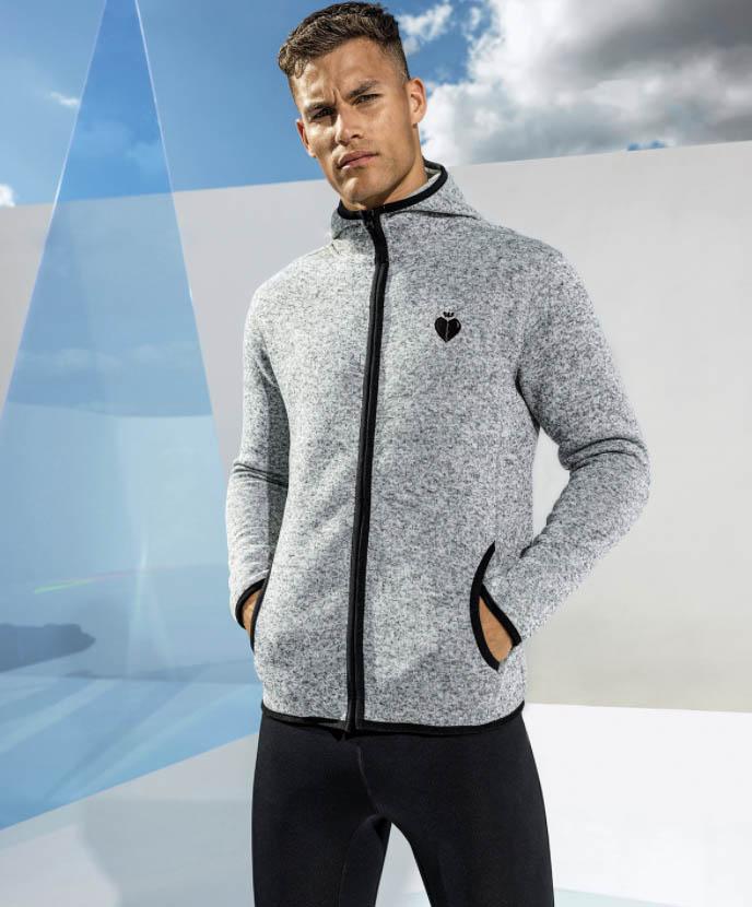 Hooded Jacket Grey Logo