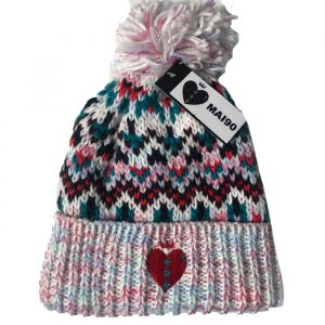 White Side Winder Beanie